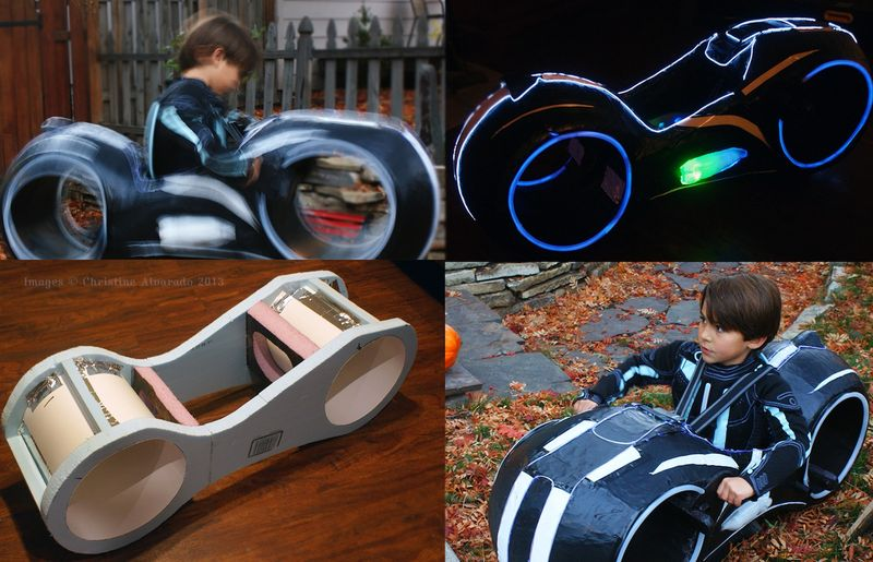 Tron Light Cycle Kids Costume
