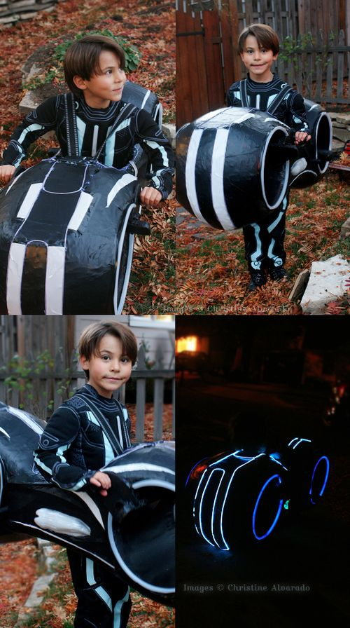 TRON Light Cycle Costume~Halloween 2013