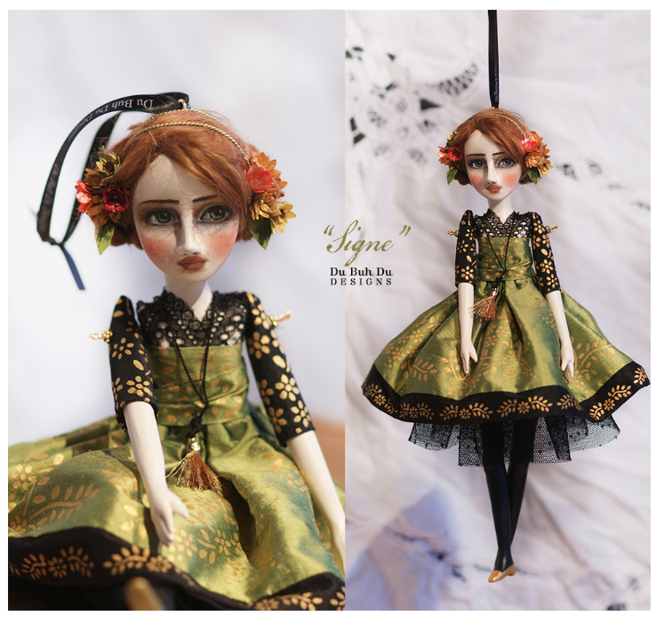 Art Doll Ornament Signe 1