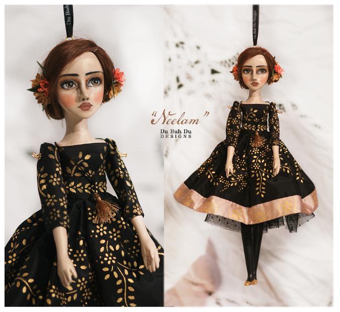 Art doll ornament