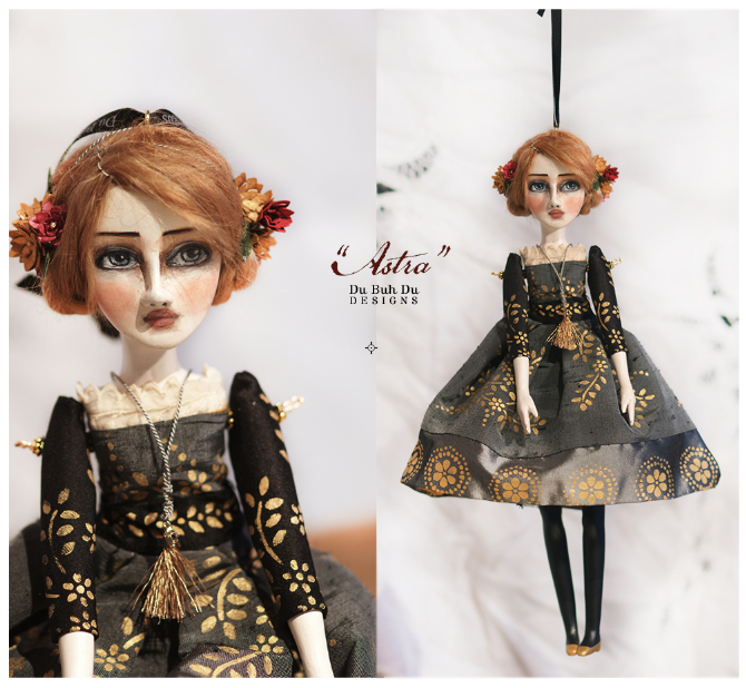 Art doll ornament astra 2