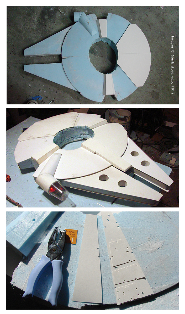 Millennium Falcon Costume WIP photos