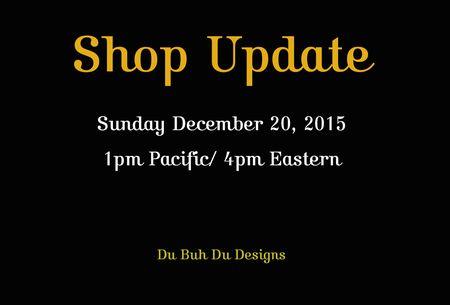 Shop update 2015