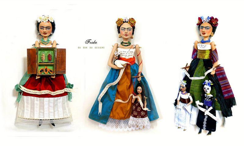 Frida Art Dolls by Christine Alvarado (2009-10)