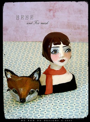 Bebe and Fox Mask